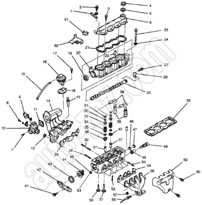 Головка блока цилиндров Daewoo