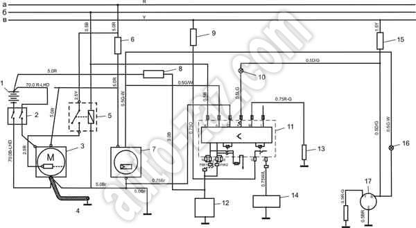 Схема электрооборудования автобуса эталон